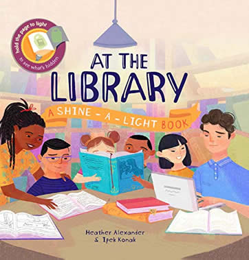 Shine a Light: At the Library by author Heather Alexander
